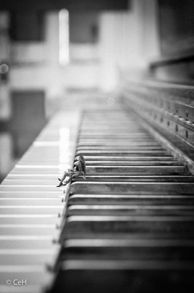 Sitting On Piano (Self Portrait)